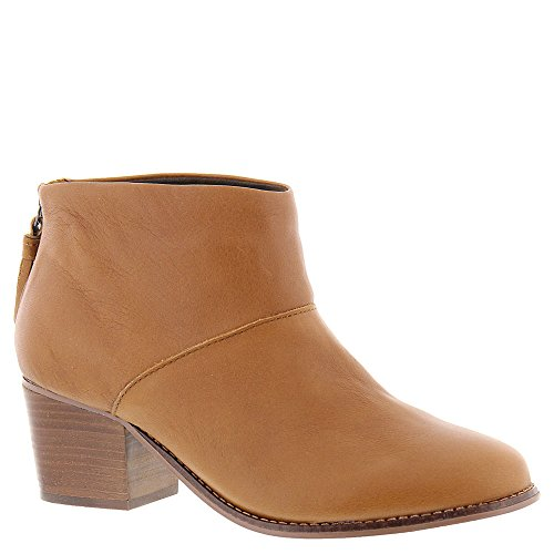 Toms Warm Tan Full Grain Leather Womens Leila Booties (7) by TOMS