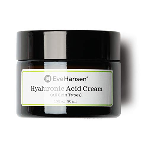 Hyaluronic Acid Cream by Eve Hansen - Hydrating, Anti Aging Cream for Younger and Plumper Skin - 1.75 ()
