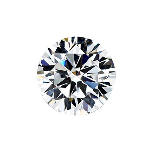 (SuperShineGems Moissanite DEF Colorless Simulated Diamond Loose Stone, Round Brilliant Cut (DEW) Excellent Cut VVS Clarity (0.15) moissanite)