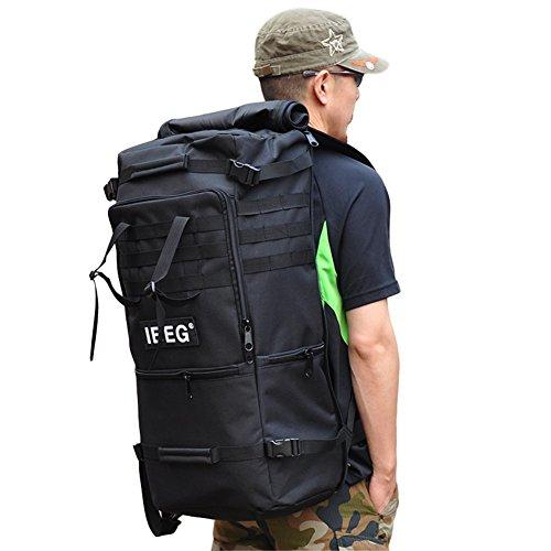 aofit 60L gran capacidad deportes al aire libre mochila multifuncional mochila de viaje mochila Militar ejército combate táctico mochila senderismo mochila, hombre, desert camouflage negro