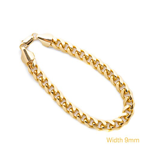 Cuban Link Bracelet, 9MM Smooth Round Th - Make Metal Bracelets Shopping Results