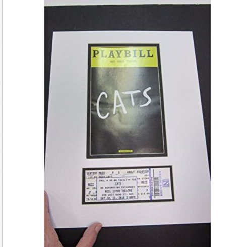 Playbill Theater (USA Premium Store Picture Framing Mat for Playbill and theater ticket White and black liner set 5)