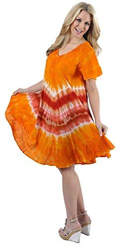 Women's Summer Casual T Shirt Dresses Beach Cover up Tank Hand Tie Dye