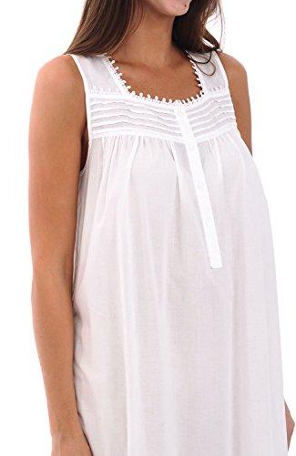 Del Rossa Womens 100% Cotton Lawn Nightgown cb1947d6f