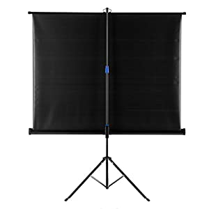120 Inch Projector Screen Stand Joyheo Portable Tabletop HD 4:3 Foldable Tripod Indoor Outdoor Projector Screen for Home Cinema Sports Office Education Presentations Entertainment
