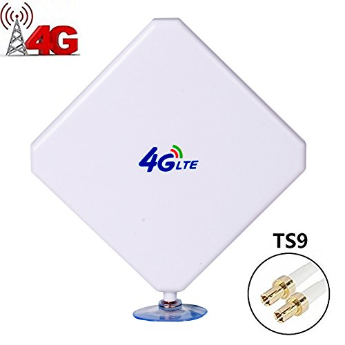 Broadband Amplifier Signal (H-ber 4G LTE Antenna TS9 35dBi High Gain Dual Mimo Network Ethernet Outdoor Antenne Signal Receiver Booster Amplifier for Home Wifi Router Mobile Broadband)