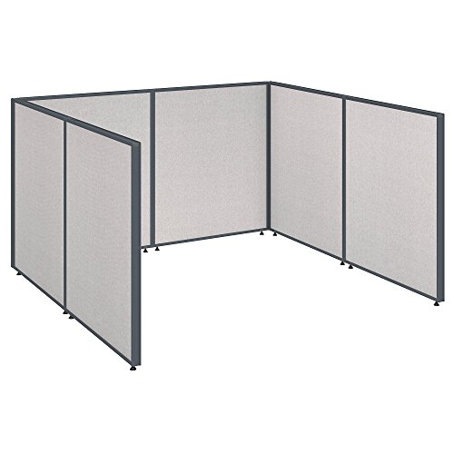 Bush Business Furniture ProPanels Single Open Cubicle Office in Light - Cubicle Propanel