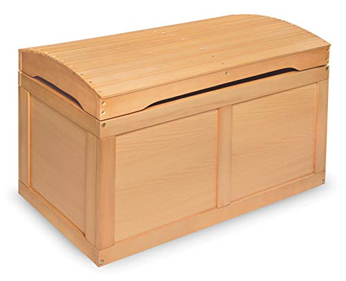 Hardwood Safety Hinge Barrel Top Toy Storage Chest