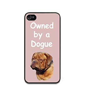 Custom Dogue de Bordeaux 'Owned by a' Dog Hard Case Clip on Back Cover for i-Phone 4/4S