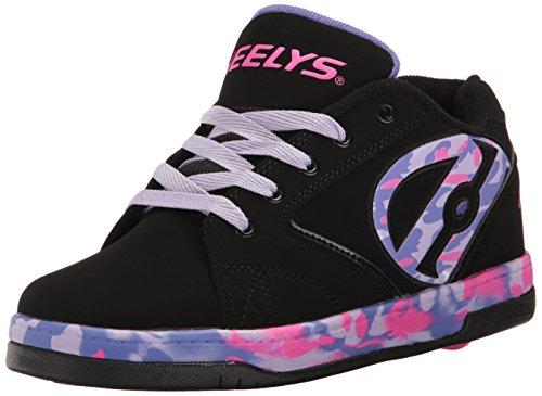 Heelys Girls' Propel 2.0 Sneaker, Black/Lilac/Pink, 3 M US Little Kid