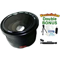 Digital 0.42x HD Super Wide Angle Panoramic Macro Fisheye Lens For The Nikon D3100, D5100, D7000 Digital SLR Camera With Any Of These (18-200mm, 24-120mm, 135mm, 180mm, 24-85mm) Nikon Lenses. BONUS BUNDLE: Mini Tripod, Lens Pen Cleaner, Cleaning Kit