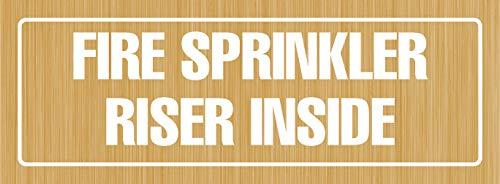 iCandy Products Inc aspersor de Fuego Elevador Interior Oficina Oficina Puerta Edificio Sign 3 x 9 Pulgadas, Metal o...