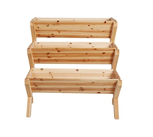 Terra Verde Home 3 Tiered Wood Garden Planter, Natural by Terra Verde