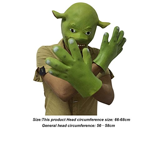 Shrek Costumes Kids Mask (Mltao Halloween Head mask Cosplay Props for Shrek aduit mask)