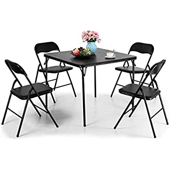 Superb Tobbi 5 Piece Folding Table And Chairs Set Multipurpose Kitchen Dining Games Table Set Andrewgaddart Wooden Chair Designs For Living Room Andrewgaddartcom