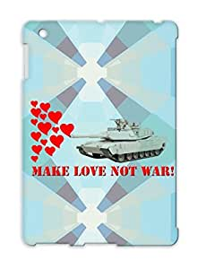 Politics News Make Peace Not War Abrams Tank LOVE Red Drop Resistant Protective Case For Ipad 4