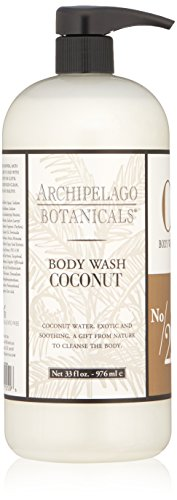 Archipelago Coconut  Body Wash, 33 Fl Oz Archipelago Botanicals Body Soap