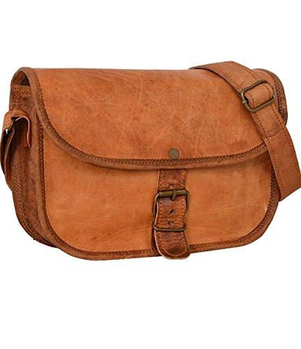 f5f84abff30d Genuine Leather Handbag Purse Vintage Shoulder bag Crossbody Satchel for  Women Everyday Party Evening Bag