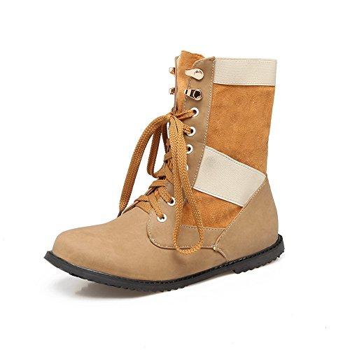 BalaMasa Womens Casual Slip-Resistant Urethane Boots ABL10168 Yellow baX4sh
