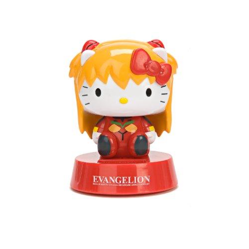 Evangelion X Hello Kitty Asuka Langley Solar Powered Bobble Head Figure -