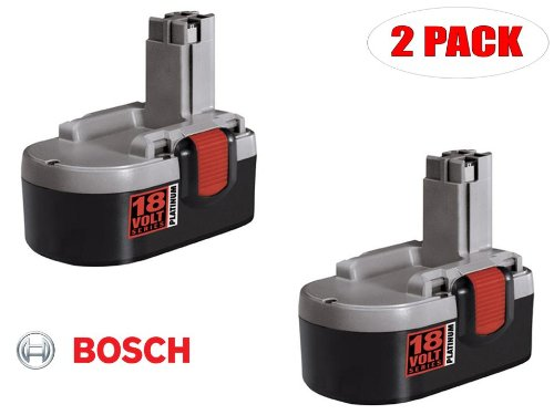 Bosch 18V Ni-Cad 2.4 AH Pod Style Battery # 2607335717 (2 PACK) by Bosch