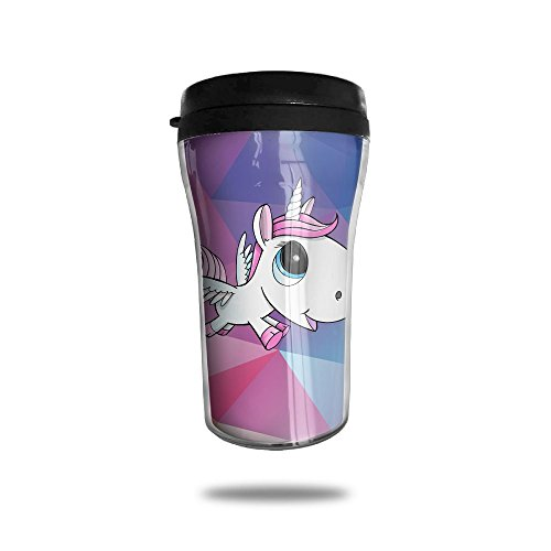 Cute Big Head Unicorn Fashion Portable Travel Coffee Mug For Home Office School Ice Drink Hot Beverage Cup Insulated Tumbler Water Coffee Cup With Lid