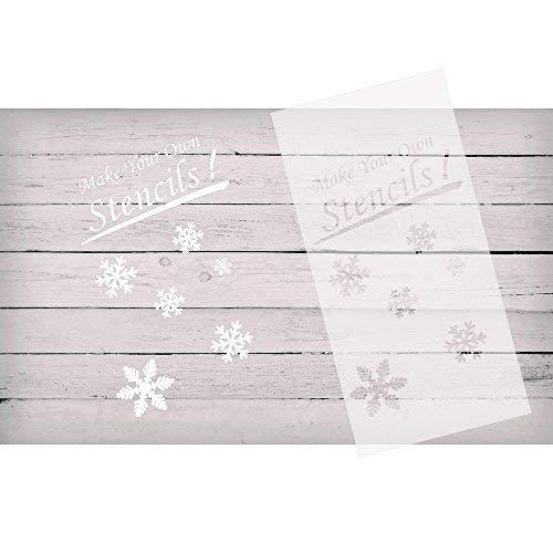 KOMIWOO 10 Pack 6 mil Blank Stencil Making Sheets 12 x 24 inch Ideal Compatible Cricut & Silhouette Machines(Mylar Material)