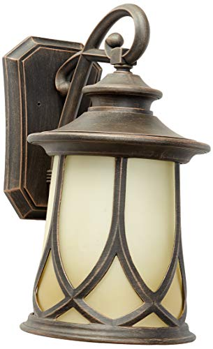 Progress Lighting P5989-122 Transitional One Light Wall Lantern from Resort Collection in Bronze/Dark Finish, Aged Copper