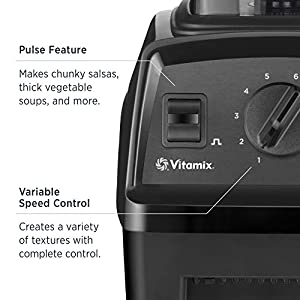 Vitamix Explorian Blender, Professional-Grade, 64 oz. Low-Profile Container, Black (Renewed)
