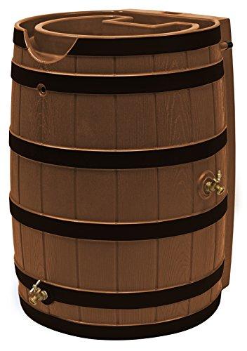 Good Ideas RW65-DR-TC Rain Wizard Rain Barrel Darkened Ribs, 65 Gallon, Terra - Woodgrain Rain Barrel