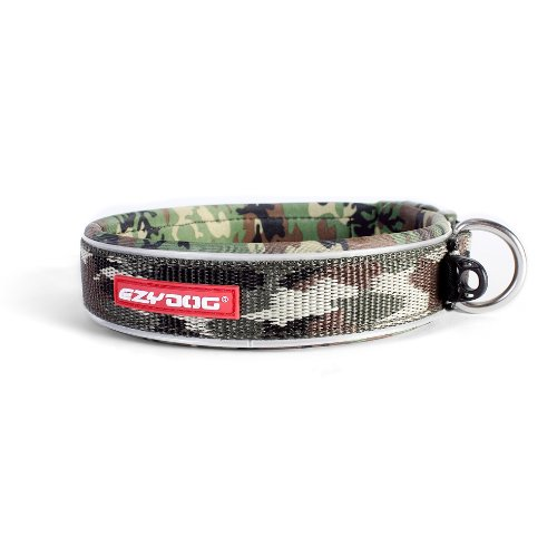 Neo Wide Dog Collar - EzyDog Neo Dog Collar, Extra Large, Green Camo