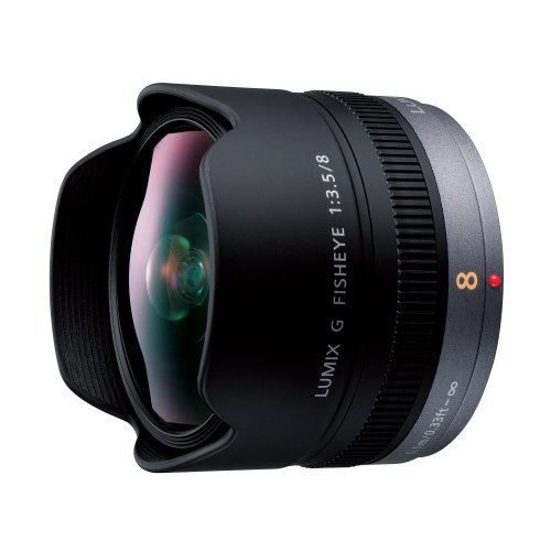 Panasonic LUMIX G FISHEYE 8mm/F3.5 Lens   H-F008 - International Version (No (Panasonic Lumix Warranty)