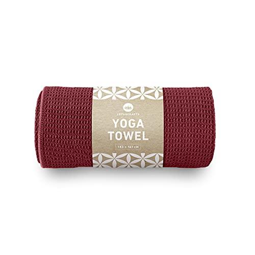 Lotuscrafts Toalla Yoga Antideslizante Grip - Antideslizante y de Secado Rápido - Manta Yoga Antideslizante - Toalla Microfibra Deporte - Toalla de Yoga para Hot Yoga [183 x 61 cm] a buen precio