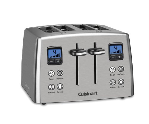 Cuisinart CPT-435FR Countdown 4 Slice Toaster, Silver (Certified Refurbished)