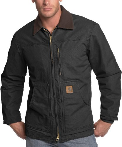 Carhartt Men's Ridge Coat Sherpa Lined Sandstone,Black,Large ()