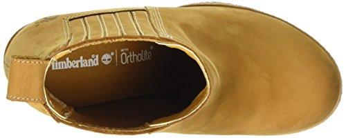 Nubuck Glancy Marrón baja Mujer de con caña Timberland botines Chelsea y cálido marrón Wheat forro botas fZAHwH