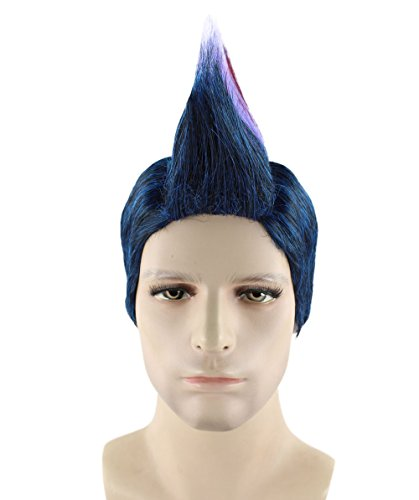 Adult Multi Color Mohawk Party Wig (Men's Mohawk Wig, Multi-colour Adult HM-255)