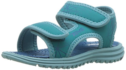 Teva Tidepool Sport Sandal (Toddler/Little Kid/Big Kid), Turquoise/Blue Print-T, 2 M US Little Kid