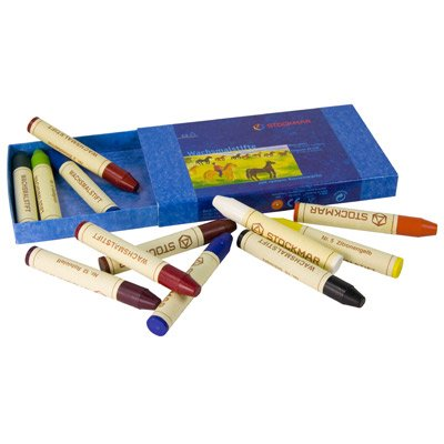 Stockmar Beeswax Stick Crayons, Set of 12, Box (Stockmar Wax Crayons compare prices)