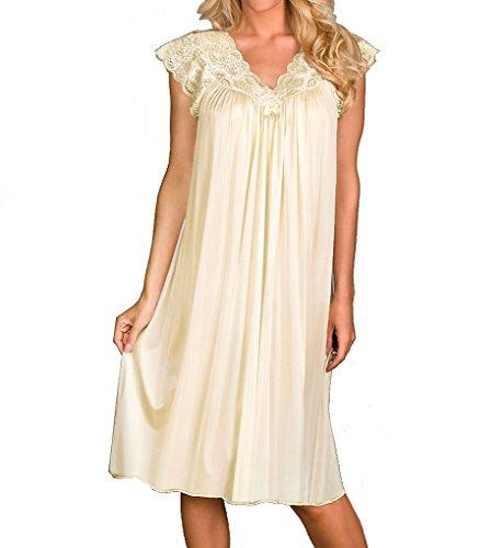 Shadowline Women's Plus-Size Silhouette 40 Inch Short Cap Sleeve Waltz Gown, Ivory, (Cap Sleeve Plus Size Cap)