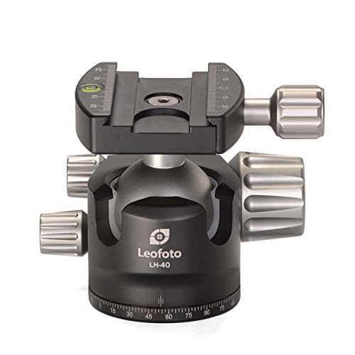 LEOFOTO LH-40 40mm Low Profile Ball Head Arca / RRS Compatible w Independent Pan Lock by LEOFOTO