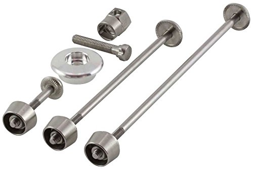 Pitlock 4 Piece Security Wheel Seat Pin & Aheadset Cap Set Silver (Skewer Set Locking)