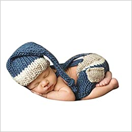 Amazoncom Coromose Newborn Baby Girl Boy Crochet Knit Hat Costume