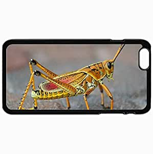 Customized Cellphone Case Back Cover For iPhone 6 Plus, Protective Hardshell Case Personalized Grasshopper Black