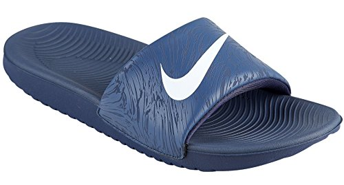 Nike Kids Kawa Slide Print (GS/PS) (13 M US, Obsidian/White-Thunder -