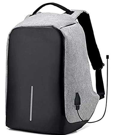 bb45342319de4 Waterproof anti theft laptop back bag with USB charger outlet ...