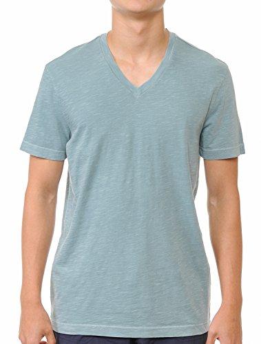YURO-K Men's Short Sleeve V-Neck T-Shirt Premium Cotton Classic Short Sleeve V-Neck T-Shirt (Large, ()