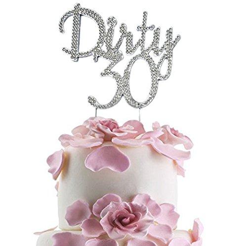 Pleasant Jennygems Dirty 30 Cake Topper Elegant Rhinestone Sparkly Funny Birthday Cards Online Unhofree Goldxyz