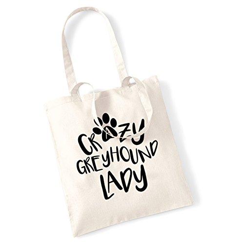 Crazy tote lady greyhound bag tote bag greyhound Natural lady Natural greyhound Crazy lady tote Crazy bag Natural SAA6TxqnP