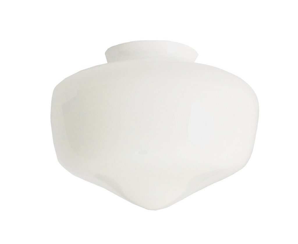 White glass ceiling fan lampshade fits bq blyss houston light white glass ceiling fan lampshade fits bq blyss houston light max width 17cm6 external width of neck 77cm3 hole 6cm dia height 125cm mozeypictures Gallery